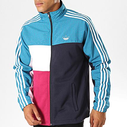 adidas Veste De Sport A Bandes Asymmetric ED5522 Bleu