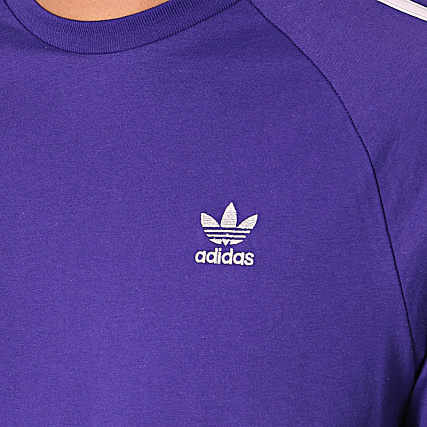 adidas Tee Shirt 3 Stripes EJ9685 Violet