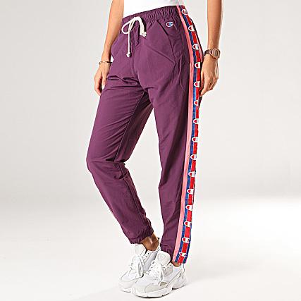 Champion Pantalon Jogging Femme A Bandes 112291 Violet
