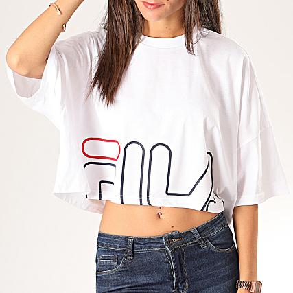 Fila Tee Shirt Crop Femme Every Turtle 681267 Saumon