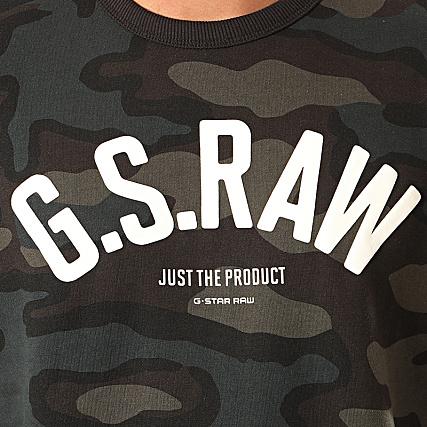 G Star Sweat Crewneck Camouflage Graphic Slim D15675 C022