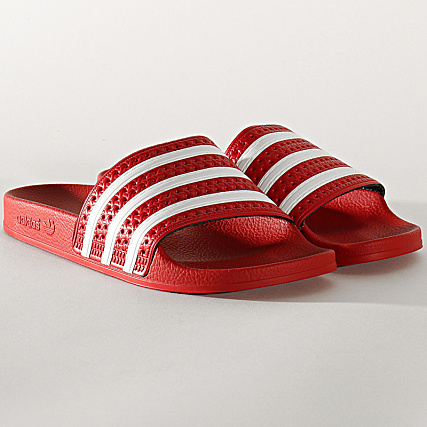 adidas Claquettes Adilette 288193 Light Scarlet White