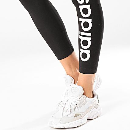 adidas Legging Femme Essential Linear DP2386 Noir Blanc