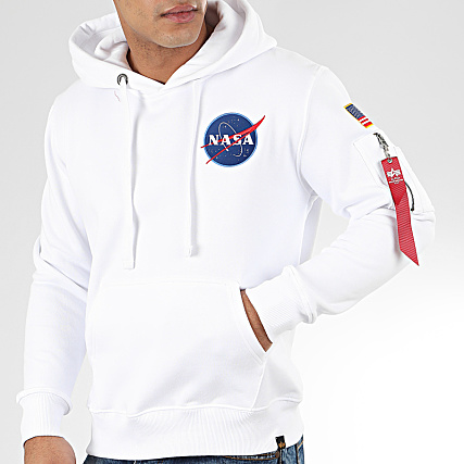 Alpha Industries Sweat Capuche Space Shuttle 178317 Blanc