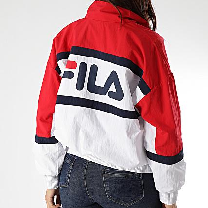 Fila Veste Zippée Femme Tricolore Kaya 687082 Blanc Rouge