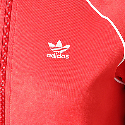 adidas Veste Zippée Femme A Bandes FM3313 Rouge