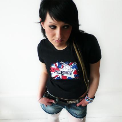 Pin Femme Sex Tee Shirt Pistols Flag shCxQBotrd