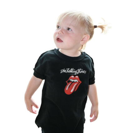 Tee shirt Bébé Noir Amplified Rolling Stones