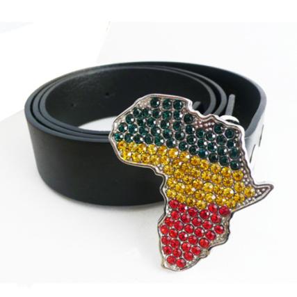vêtements de sport de performance prix bas dernière vente Ceinture Boucle Strass Bling Afrique Rasta ...