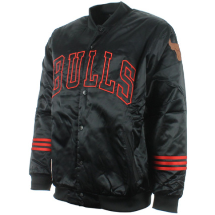 Jacket Chicago Nba Noir Satin Bulls Blouson Adidas qH4X8