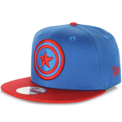 Casquette Snapback New Era Captain America Bleu Roi Rouge -  LaBoutiqueOfficielle.com 8d47eb61e852