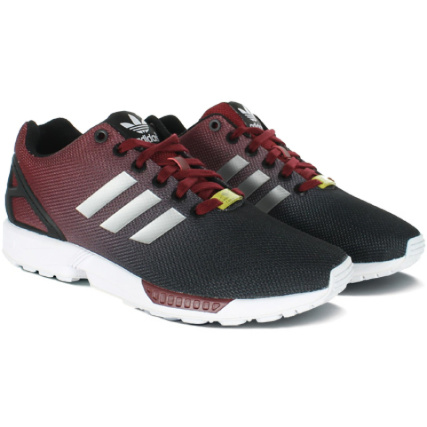 Baskets adidas ZX Flux Argenté Metallique Rouge Cardinal - LaBoutiqueOfficielle.com