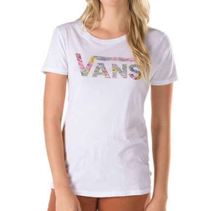 e94dda6b02c34 Tee Shirt Femme Vans G Faded And Jaded Blanc - LaBoutiqueOfficielle.com