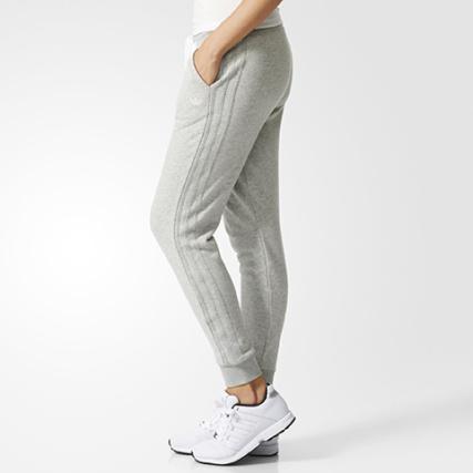 Home   adidas   Joggings   Pantalons Joggings   Pantalon Jogging Femme  adidas Slim TP Cuffed Gris Chiné ab36110f4f56