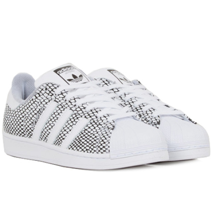 Baskets adidas Superstar Snake Pack Blanc Noir - LaBoutiqueOfficielle.com