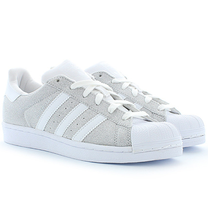 adidas - Baskets Femme Superstar Blanc Argenté - LaBoutiqueOfficielle.com