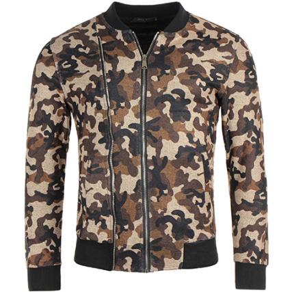 G7513 Camouflage Veste Zippée H John Marron wt8FBHqq