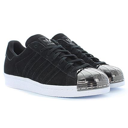 adidas - Baskets Femme Superstar 80S Metal Noir - LaBoutiqueOfficielle.com
