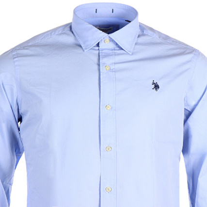 Us Polo Assn Chemise Manches Longues Joris Bleu Ciel