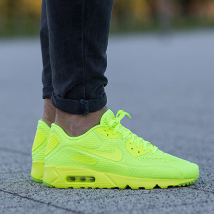 Home > Nike > Baskets - Chaussures > Baskets Basses > Nike - Baskets Air Max 90 Ultra Breathe Jaune Fluo