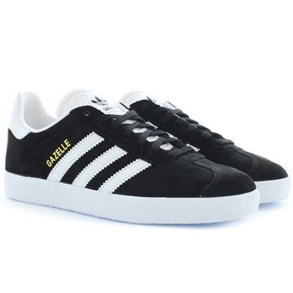 Adidas Bb5476 Black Metallic White Gold Baskets Gazelle Core