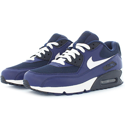 Nike - Baskets Air Max 90 Essential Bleu Marine - LaBoutiqueOfficielle.com