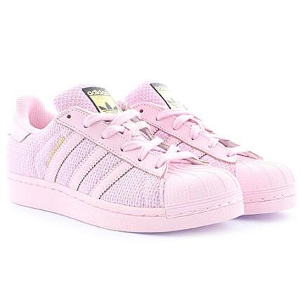 superstar adidas enfant rose