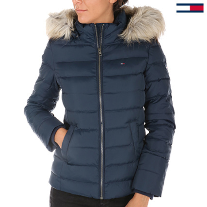 Tommy Hilfiger Denim - Doudoune Femme Basic Down Bleu Marine -  LaBoutiqueOfficielle.com 7c317dec8036