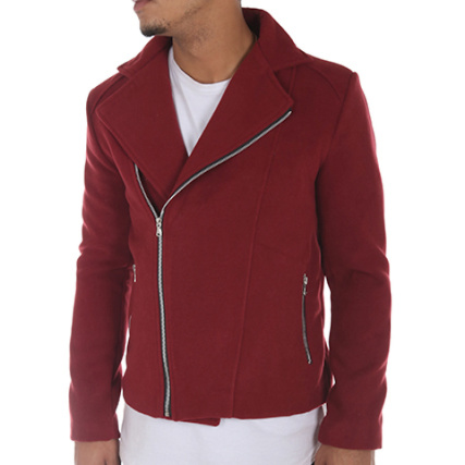 Uniplay - Veste Biker 6325 Bordeaux - LaBoutiqueOfficielle.com 81bba631400d