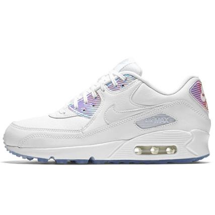 Nike Baskets Femme Air 104 Max 90 Premium 443817 104 Air White White Bleu 1bb7d1