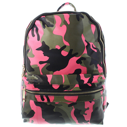 Sac A Camouflage Denim Dos Rose Berry 8wU6xqA