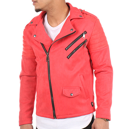 Uniplay - Veste Biker 1629 Rouge - LaBoutiqueOfficielle.com bf635170cd7e