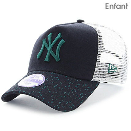 76233edb8158 New Era - Casquette Trucker Enfant Paint Spot Vize MLB New York Yankees 9  Forty Bleu Marine - LaBoutiqueOfficielle.com