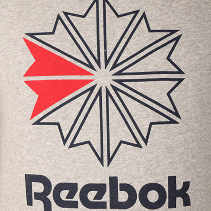 Br0568 Gris Star Chiné Sweat Capuche Reebok HqtY44