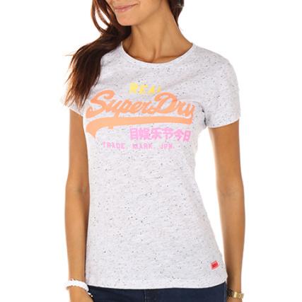 f85d12c076598 Superdry - Tee Shirt Femme Vintage Logo Entry Gris Chiné -  LaBoutiqueOfficielle.com