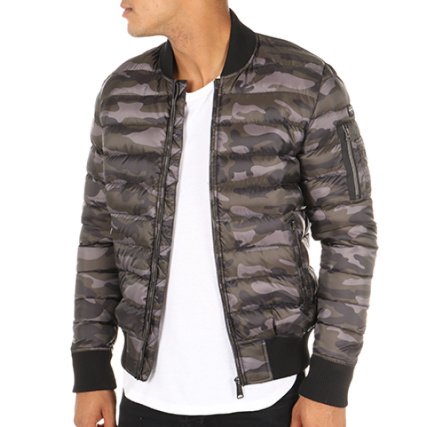 Nyc Bomber Gris Norfolk Schott Doudoune Camouflage Poche A Anthracite dAByvqZ