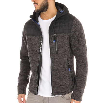 Zippé Gris Anthracite Superdry Noir Capuche Sweat Chiné Mountain BqS55g7w 5d3cf6236d4