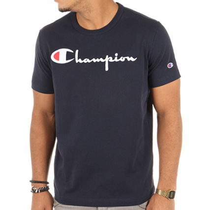 champion tee shirt 210972 bleu marine. Black Bedroom Furniture Sets. Home Design Ideas