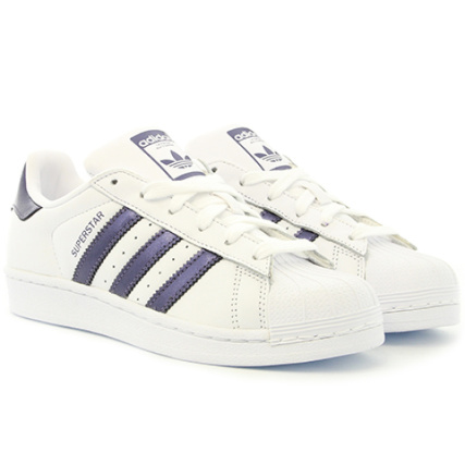 adidas - Baskets Femme Superstar CG5464 Footwear White Puni Metallic - LaBoutiqueOfficielle.com