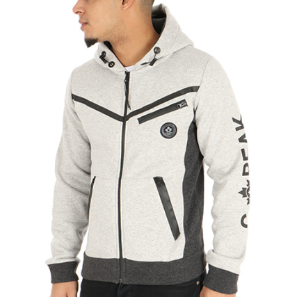 Capuche Firmal Peak Zippé Sweat Gris Canadian Chiné 6ZH4ax