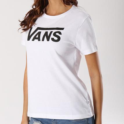 ccedb19ae7e7c Vans - Tee Shirt Femme Flying V Blanc - LaBoutiqueOfficielle.com