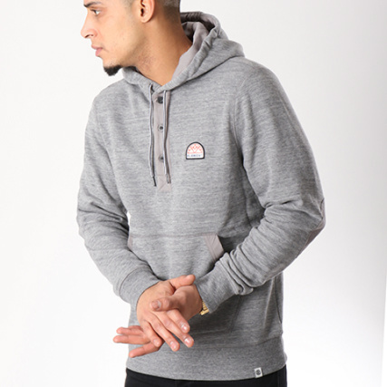 Gris Capuche Sweat Henley Highland Element Chiné xORq5wy0
