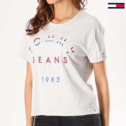 Tommy Hilfiger Jeans - Tee Shirt Femme Emboidered Logo 4071 Gris Chiné -  LaBoutiqueOfficielle.com a5e776d44fae