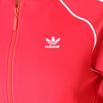 Ce2393 Femme Zippée Rouge Veste Sst Adidas xIEAqA