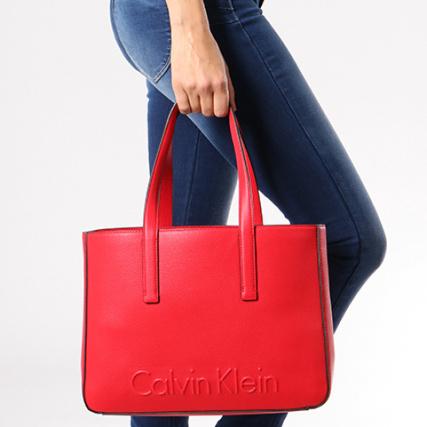 2c0b2e15e42a Shopper Calvin Main 3986 Rouge Medium Klein Edge Femme A Sac UqFTUxS