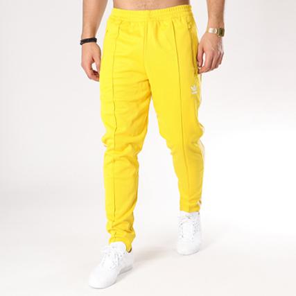Jaune Cw1273 Adidas Bandes Jogging Beckenbauer Brodées Pantalon Qzta0q 0wm8Nn