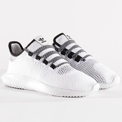 adidas - Baskets Tubular Shadow CoreKnit CQ0929 Footwear White Core Black - LaBoutiqueOfficielle.com