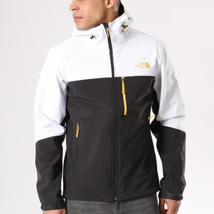 The North Face - Veste Zippée Capuche Apex Bionic Noir Blanc -  LaBoutiqueOfficielle.com f477547f9ab