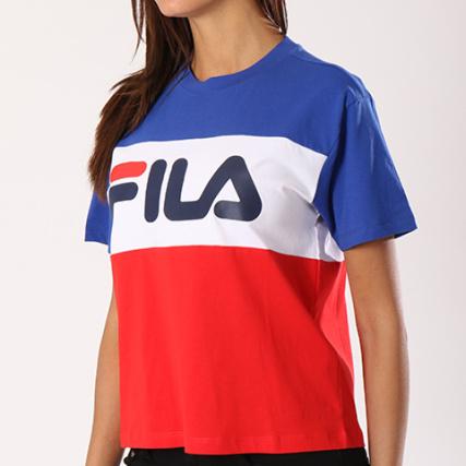 fila tee shirt femme allison 682125 bleu roi blanc rouge. Black Bedroom Furniture Sets. Home Design Ideas