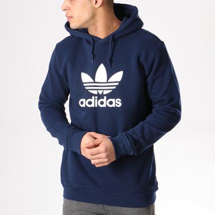 Capuche Cx1900 Marine Adidas Bleu Trefoil Blanc Sweat Pwq05fU